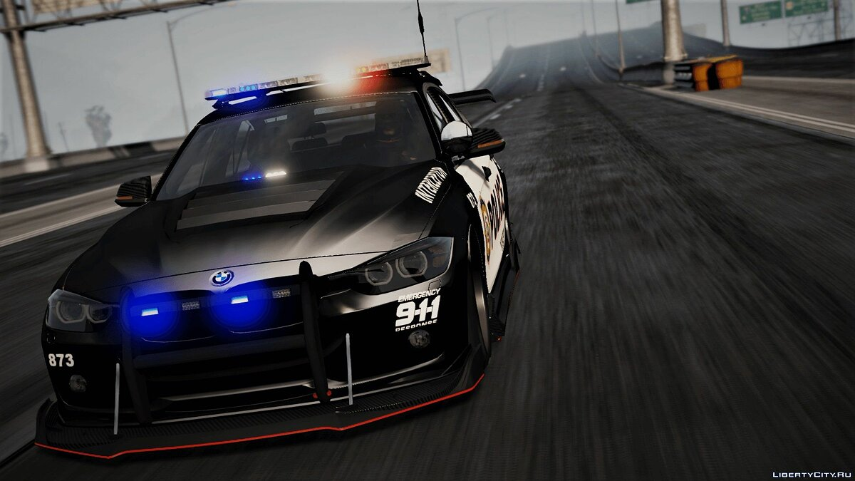 Police car BMW 3 F30 Police Crazy exterior [Add-On] [ELS] [Template] for GTA 5