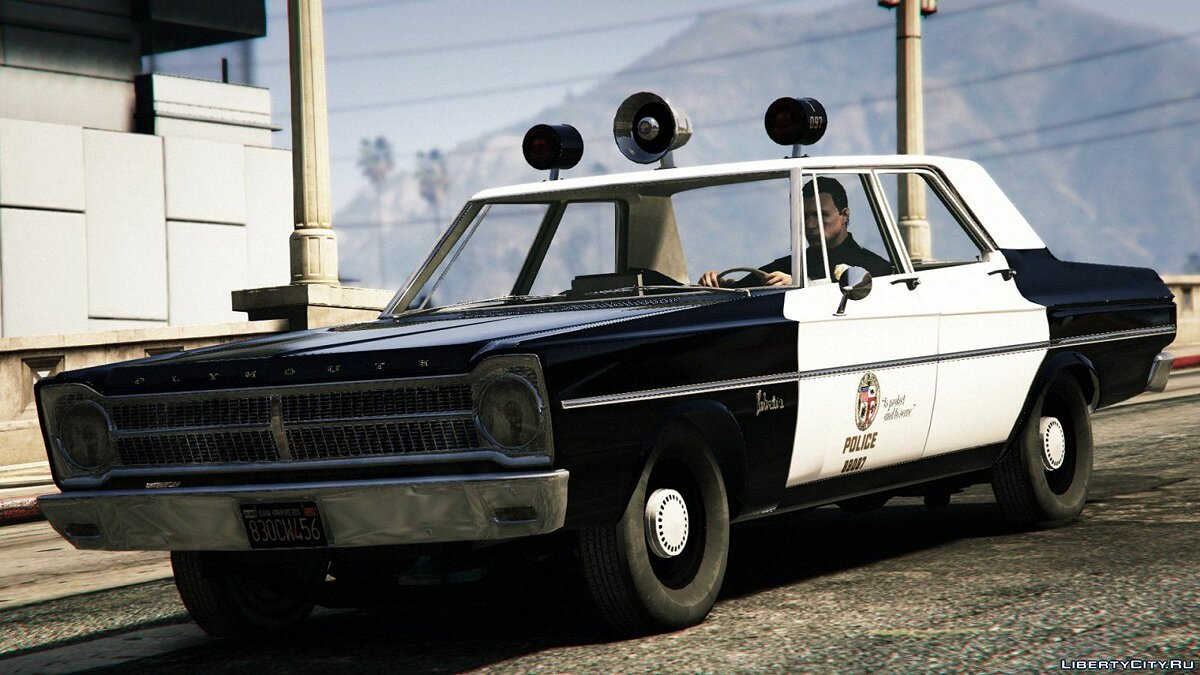 Police car 65 & # x27; Plymouth Belvedere LAPD 1.1.0 for GTA 5