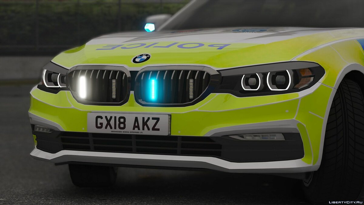 2018 Surrey / Sussex Police BMW 5 Series Touring [ELS] 1.0 for GTA 5 - screenshot #4