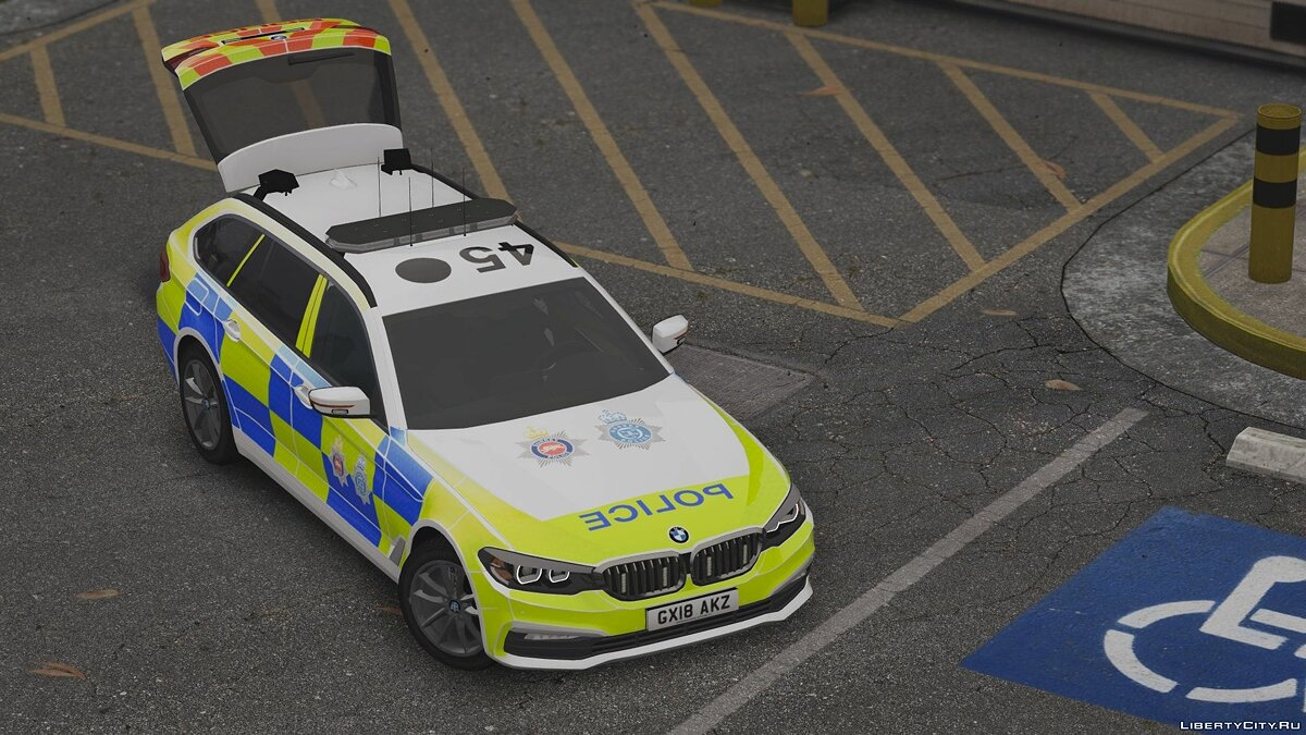 2018 Surrey / Sussex Police BMW 5 Series Touring [ELS] 1.0 for GTA 5 - screenshot #7