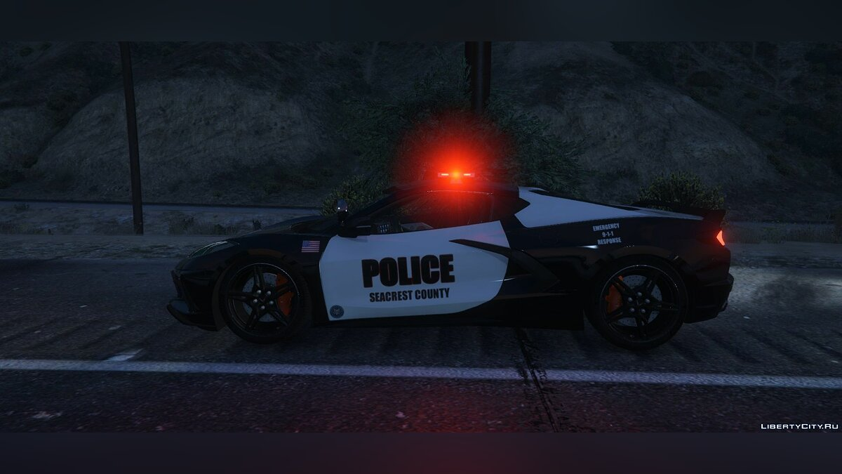 Police car 2020 Chevrolet Corvette C8 - Police Car for GTA 5