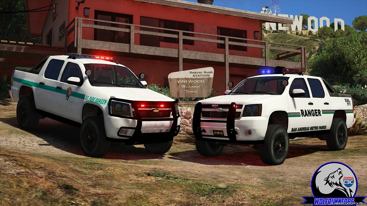 Police car 2010 Chevy Avalanche Park Rangers ELS & NON-ELS 1.0.0 1.0 for GTA 5