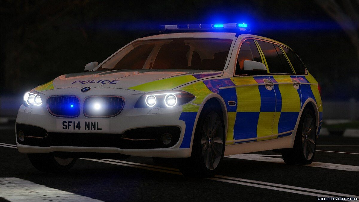 Police 2014 BMW 530d [ELS] V1 for GTA 5