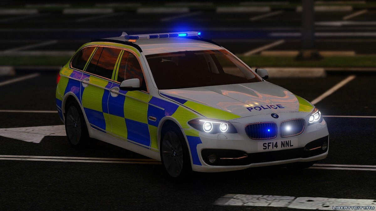 Police 2014 BMW 530d [ELS] V1 for GTA 5 - screenshot #3