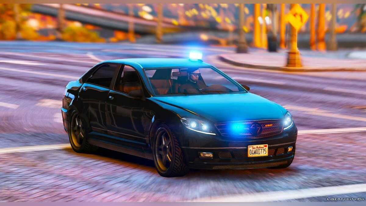 Police car Police Unmarked Schafter / ELS 1.0 for GTA 5