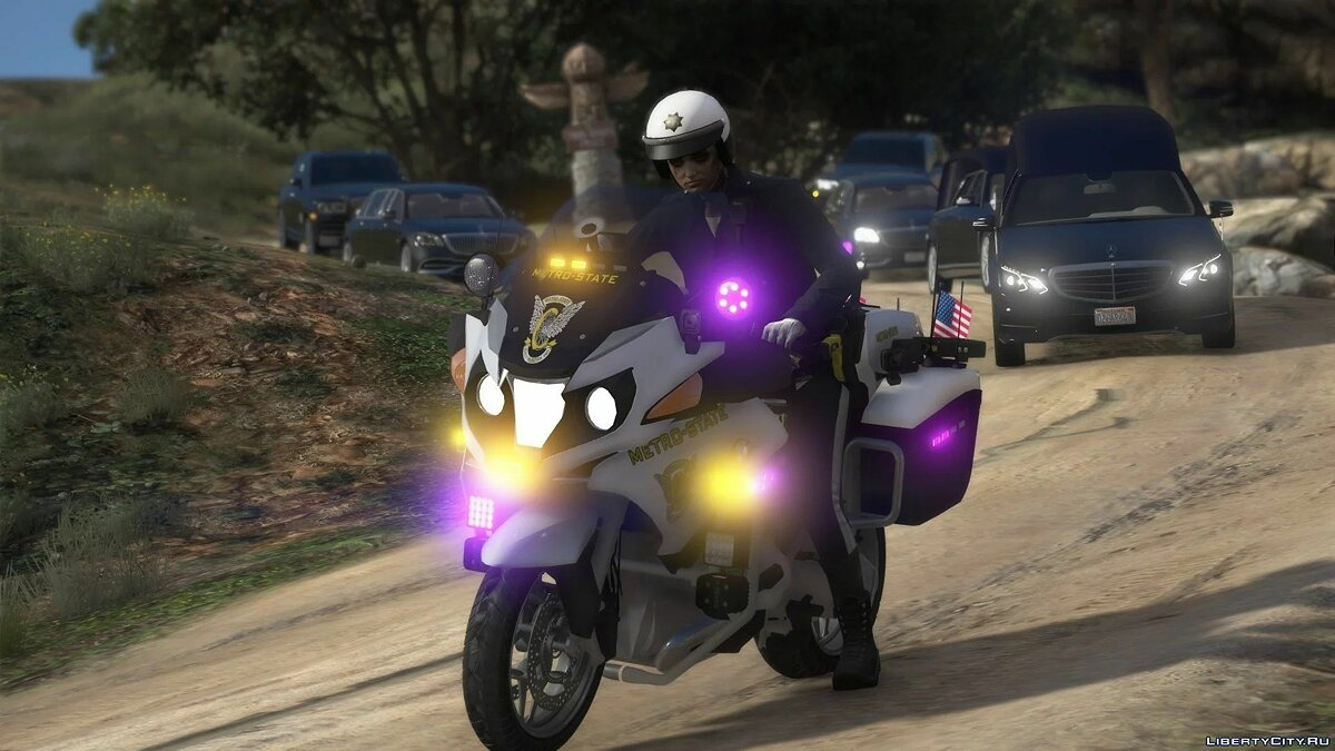 Police car BMW r1200rt Metro-State [ELS] 1.1 for GTA 5