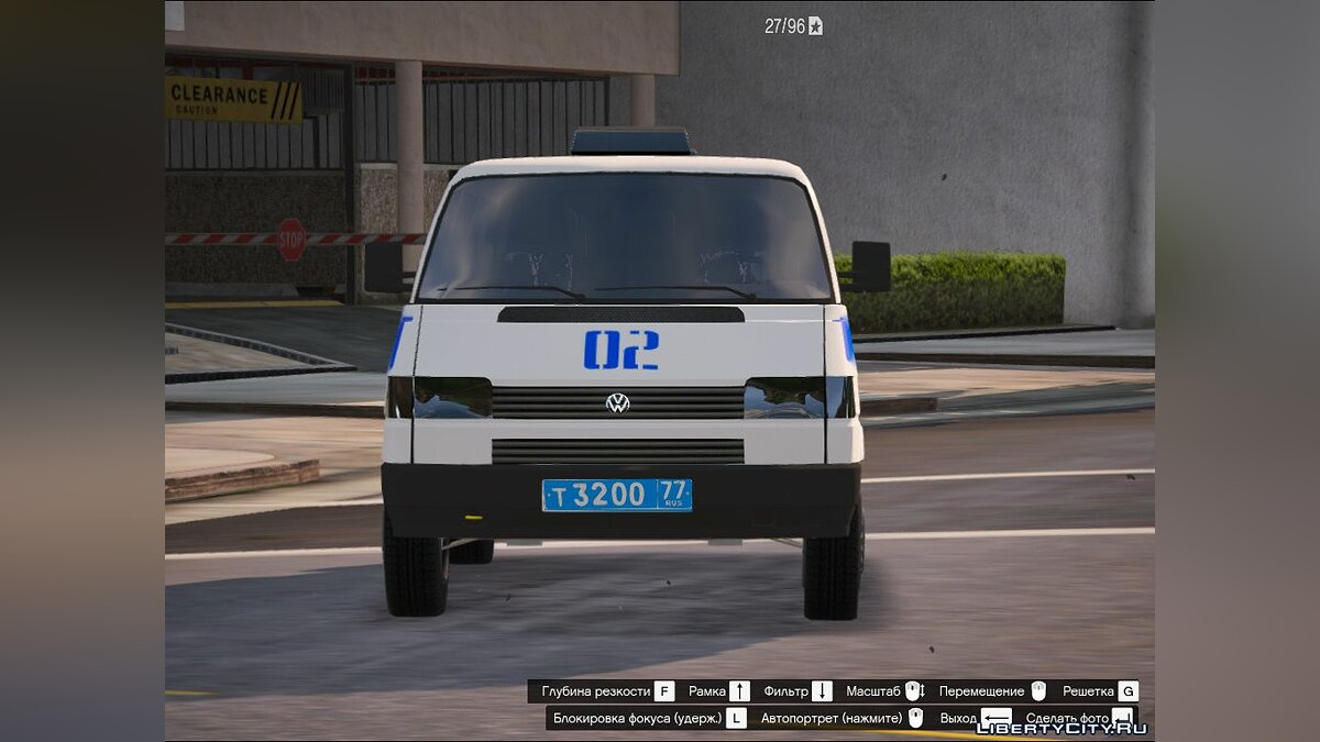 Police car Volkswagen Transporter Police T4 - Police Main Department of Internal Affairs of Moscow for GTA 5