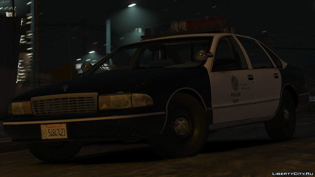 Police car [ELS] 1995 Chevy Caprice 9C1- Los Angeles Police Dept. 1.1 for GTA 5