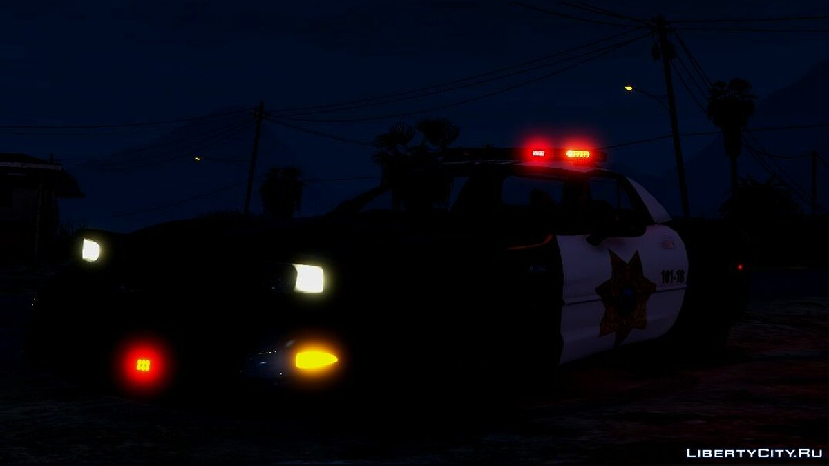 Police car Chevrolet Corvette C5 Z06 Hot Pursuit Blaine County PD [Add-On | Template | Unlocked | ELS] 1.1 for GTA 5