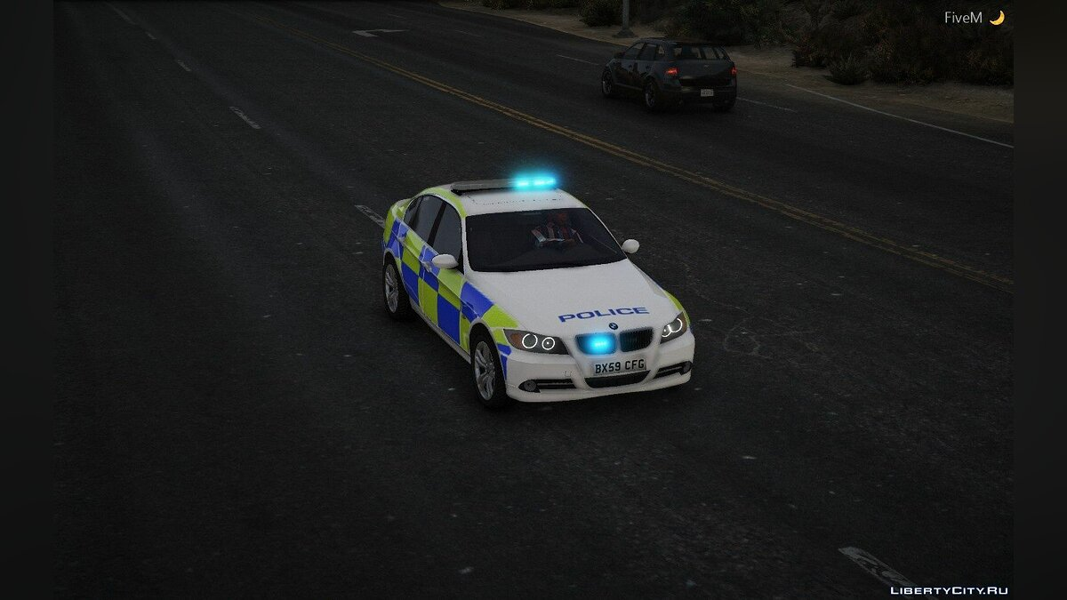 Police car BMW 330D Marked | Generic British | ELS 1.0 for GTA 5