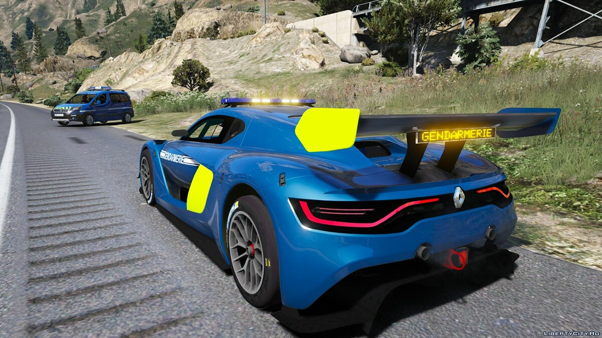 Renault RS 0.1 Gendarmerie 1.0 for GTA 5 - screenshot #2