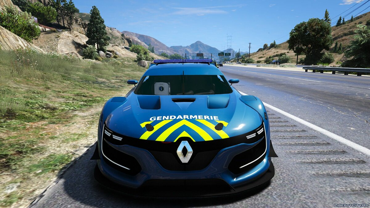 Renault RS 0.1 Gendarmerie 1.0 for GTA 5 - screenshot #3
