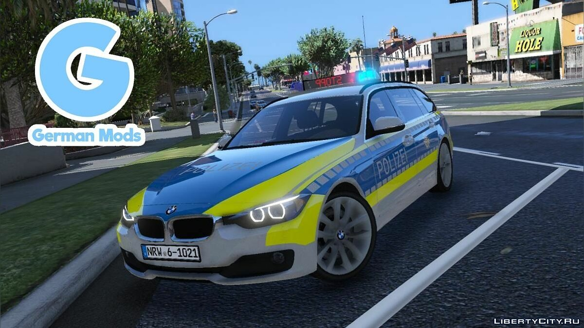 Police car Police BMW F31 Touring for GTA 5