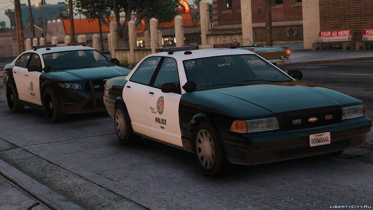 Police car Improved Vapid Stanier Police Cruisers [Replace] 1.0 for GTA 5