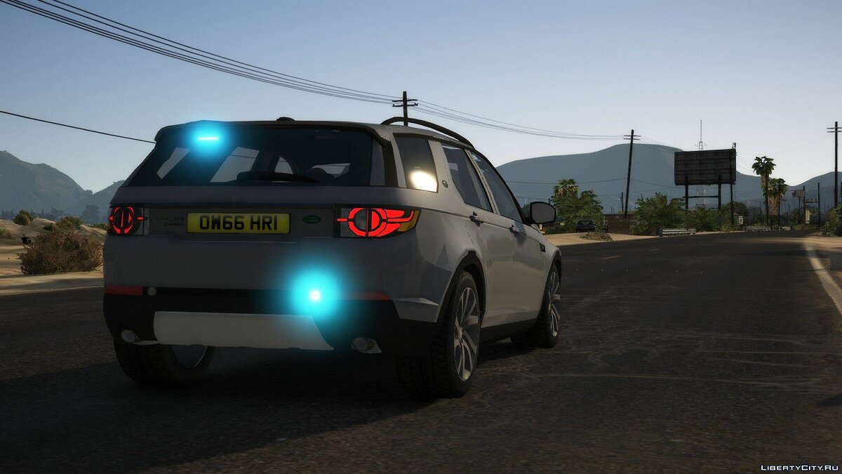 Police car Land Rover Discovery Sport Unmarked [ELS | REPLACE] 1.0 for GTA 5