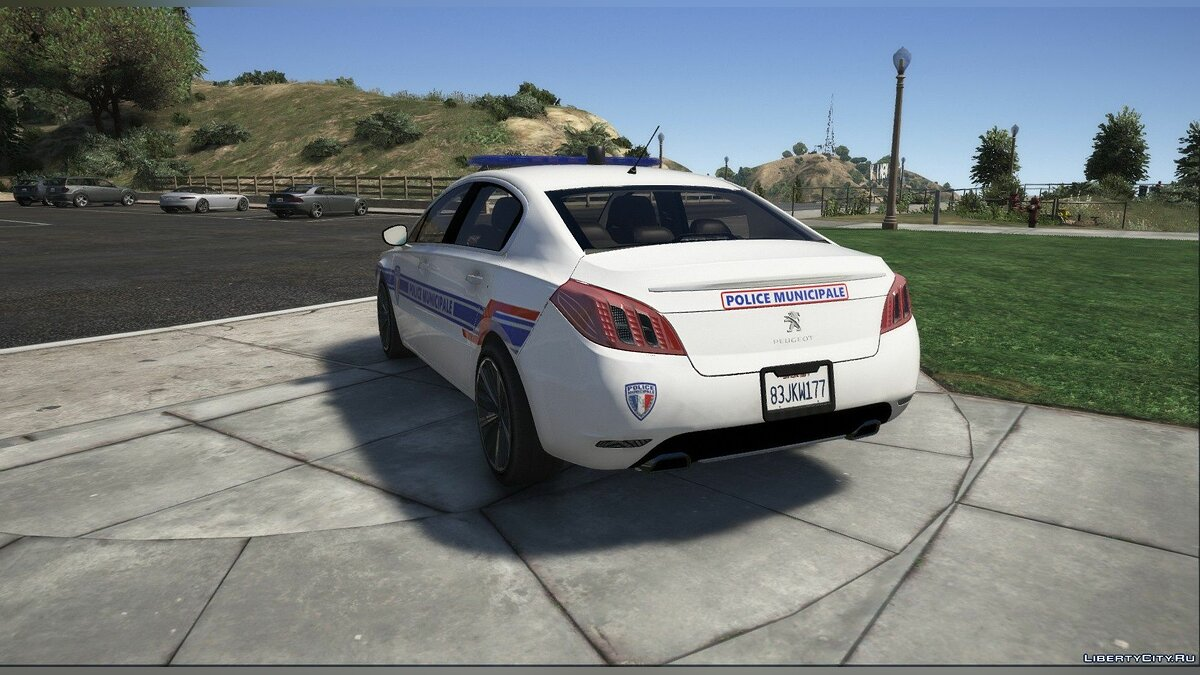 Police car Peugeot 508 - Municipal Police for GTA 5