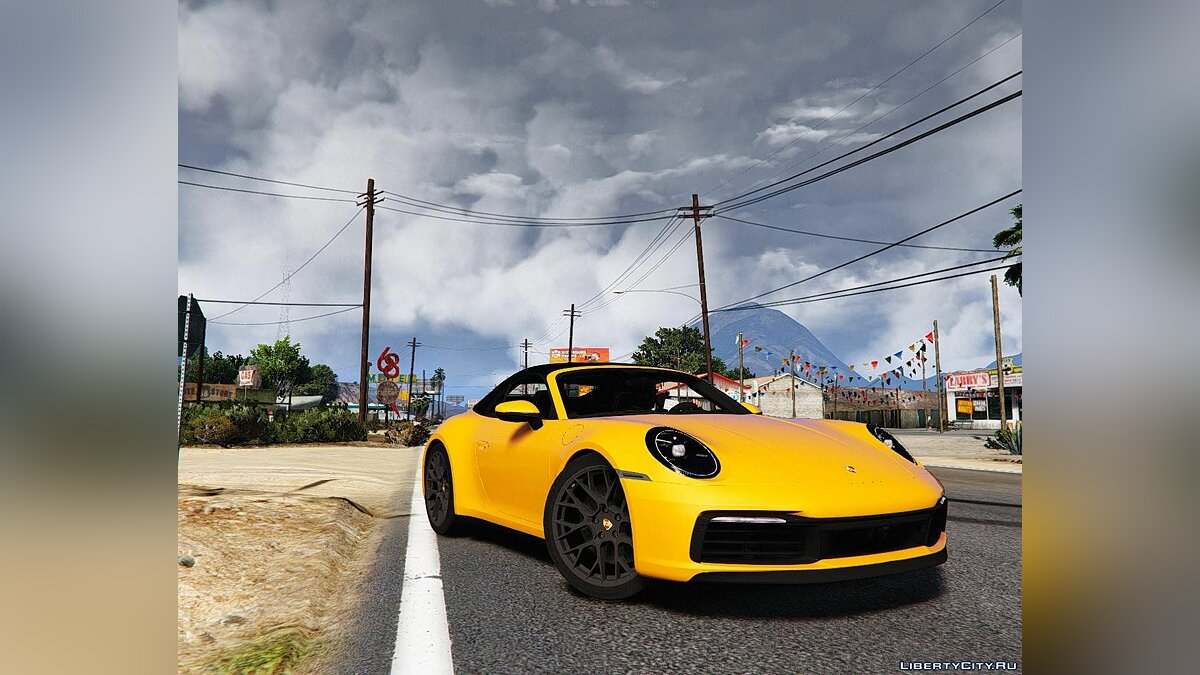 Porsche car 2020 Porsche 911 Cabriolet Carrera 4S [Add-On] 1.0 for GTA 5