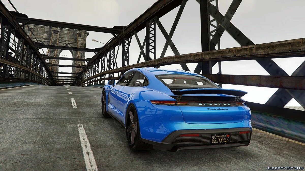 Porsche car 2020 Porsche Taycan Turbo S [Add-On / Replace | Template | Auto-Spoiler] 1.1 for GTA 5