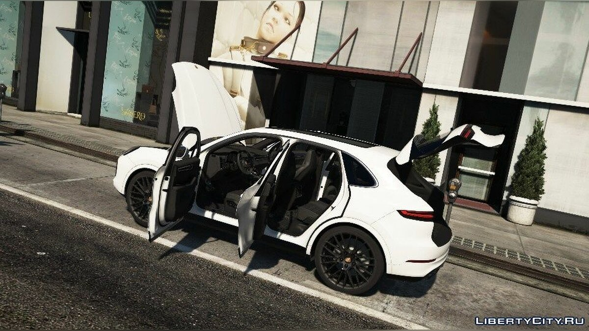 Porsche car Porsche Cayenne Turbo 2018 [Add-On / Replace] 1.0 for GTA 5