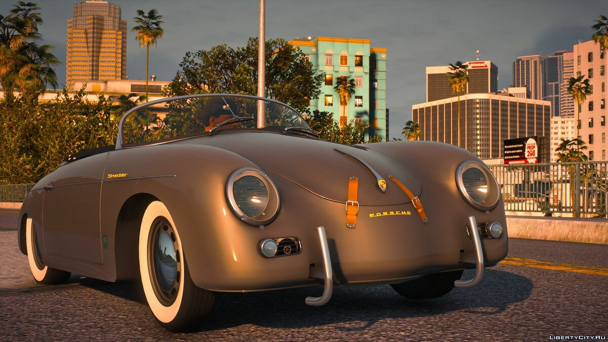 Porsche car 1956 Porsche 356 Speedster [Add-On | LODs | Template | Tuning] 1.0 for GTA 5