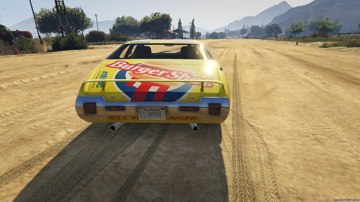 Cars New Burger Shot Stallion 1.1 for GTA 5