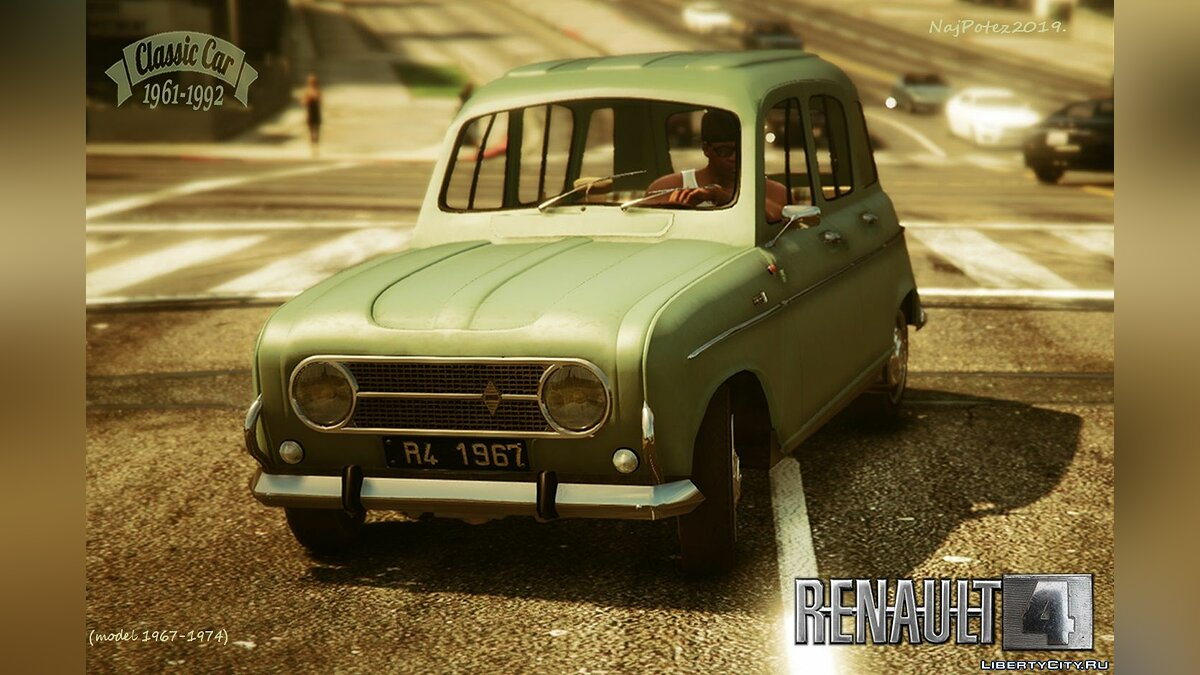 Renault car RENAULT 4 [Add-On / Replace | LODS] 1.0 for GTA 5