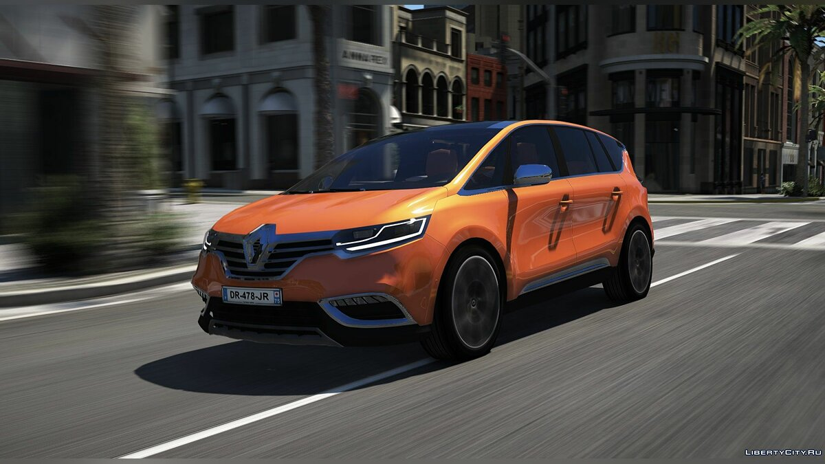 Renault car Renault Espace 2015 [Add-On] 1.0 for GTA 5