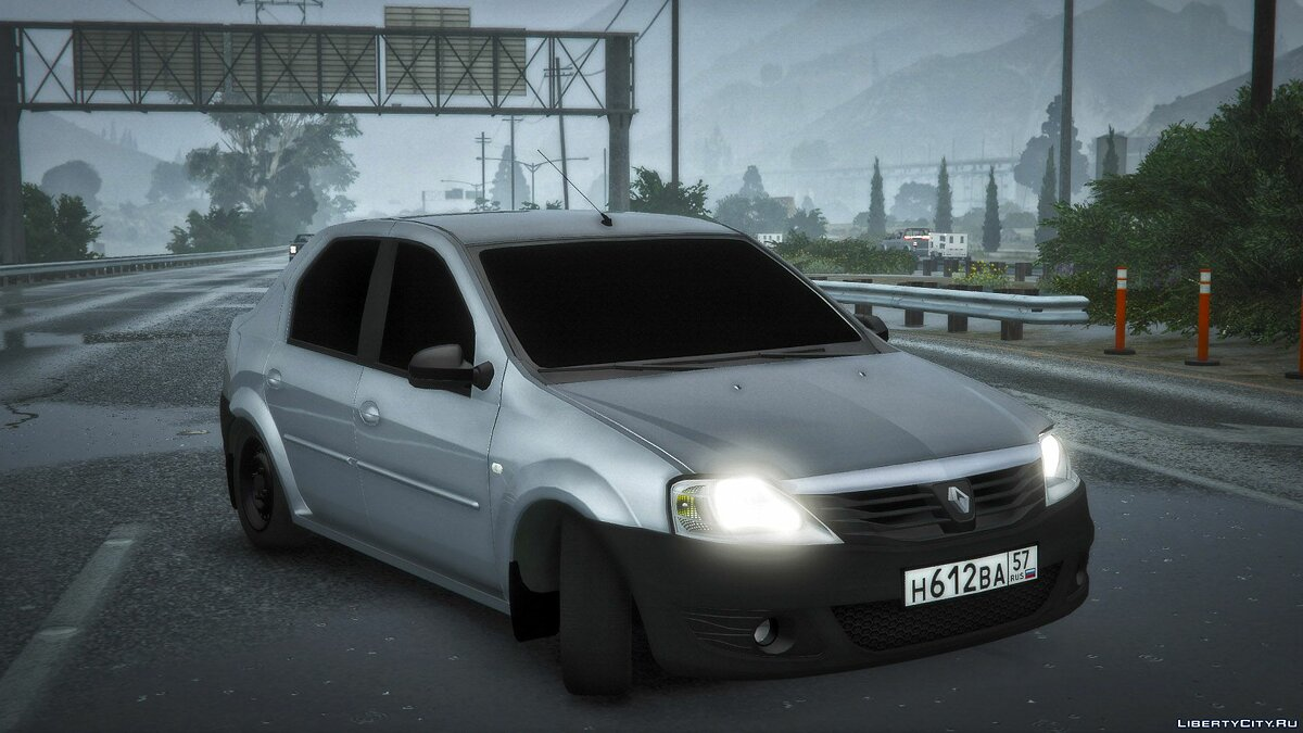 Renault car Renault Logan for GTA 5