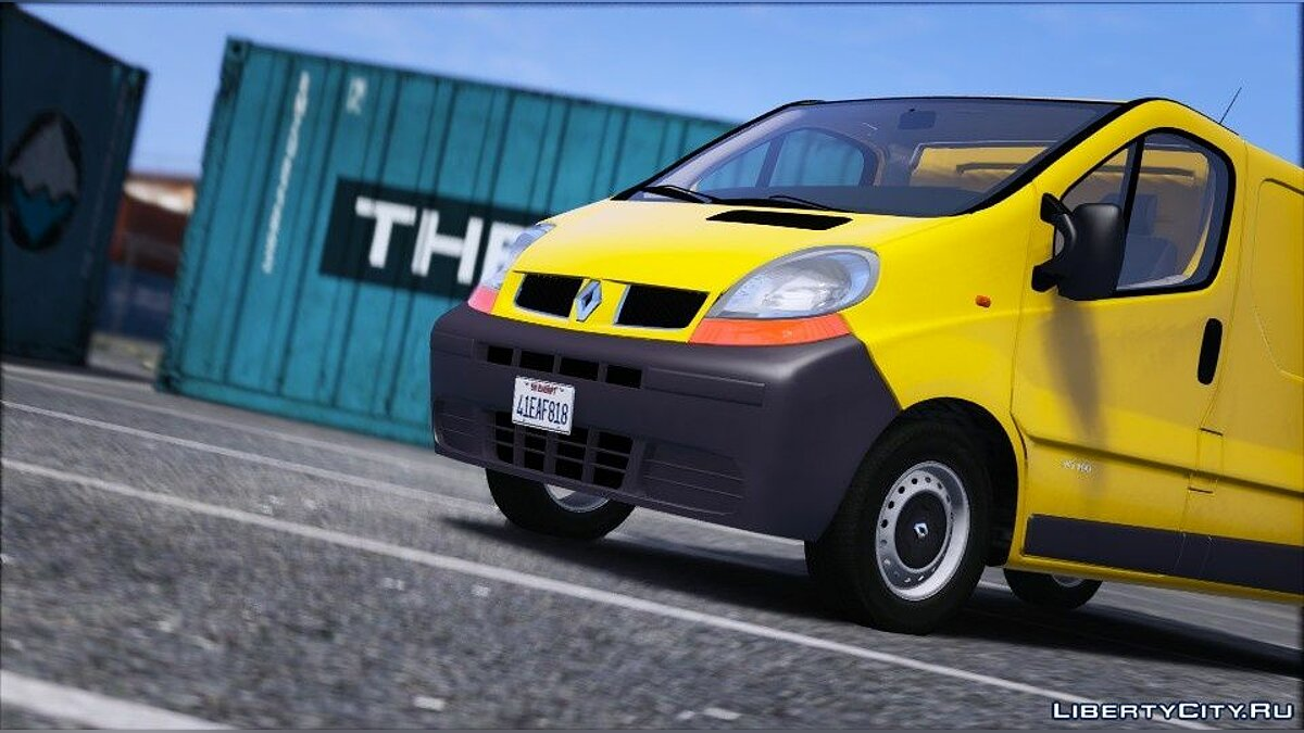 Renault car Renault Trafic II.1 Fourgon [Add-On | Extras] 1.0 for GTA 5