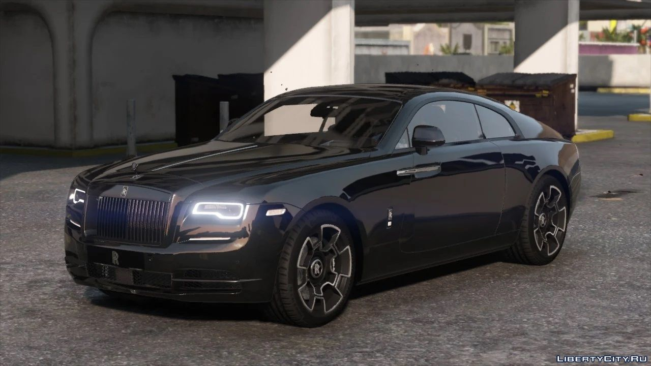 2019 Rolls Royce Wraith Black Badge Add On Logo Animated For Gta 5