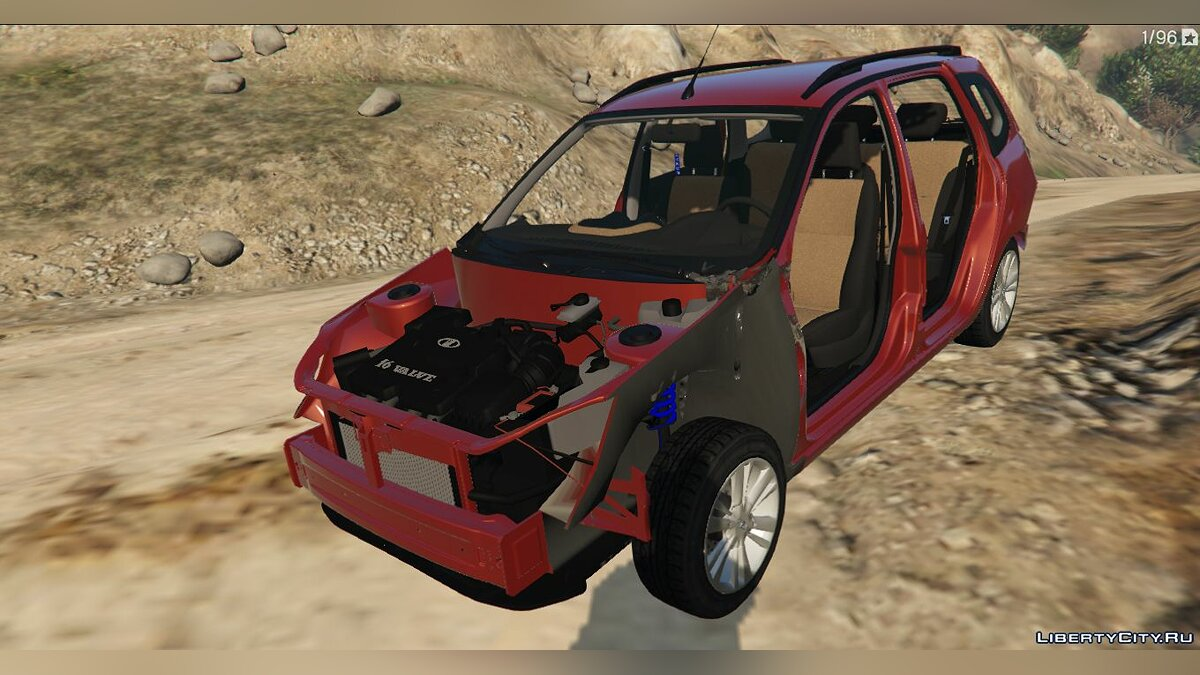 Russian cars LADA GRANTA WAGON for GTA 5