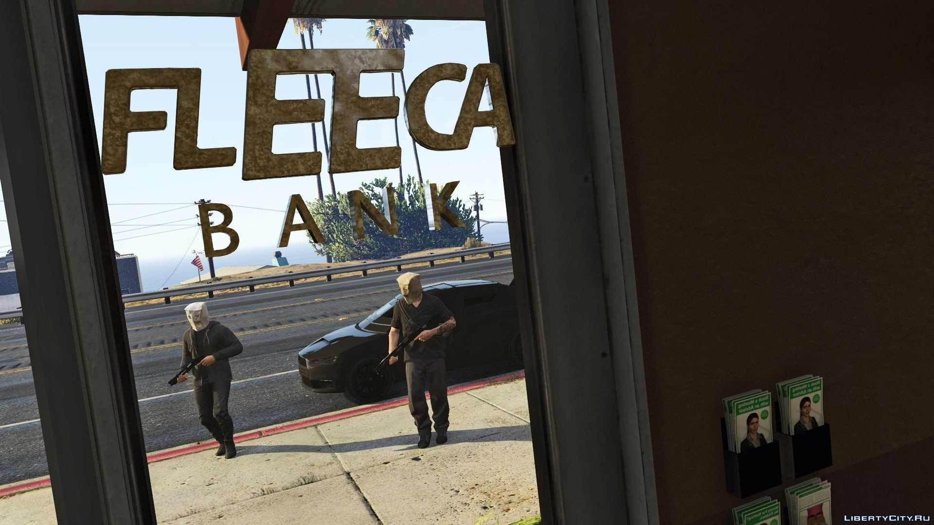 how to rob fleeca bank gta