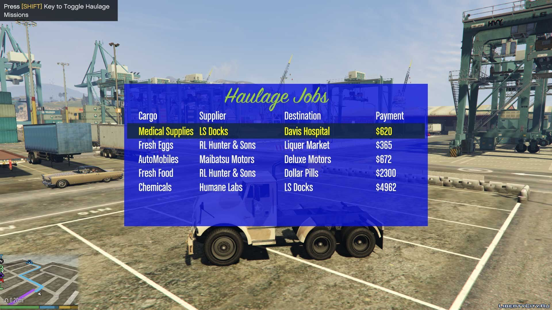 Haulage Missions 1 2 1 for GTA 5