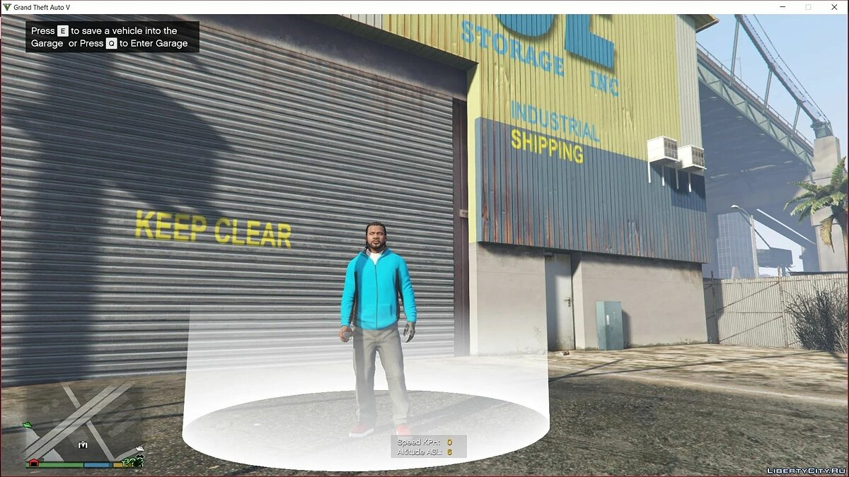 Script mod Garage from GTA Online for GTA 5