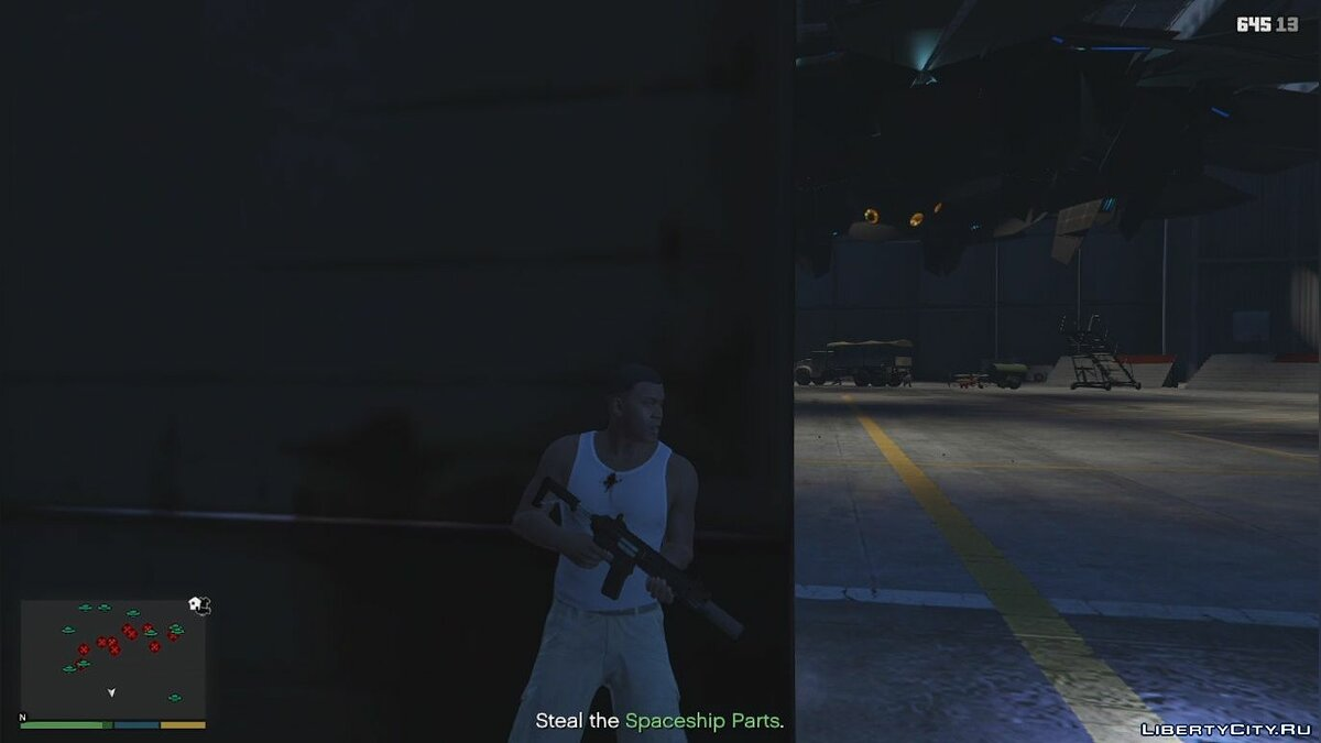 Script mod Missions with aliens from GTA Online for GTA 5