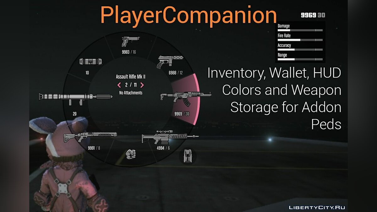 Script mod PlayerCompanion: Advanced Game Features for Addon Peds 1.1.1 for GTA 5
