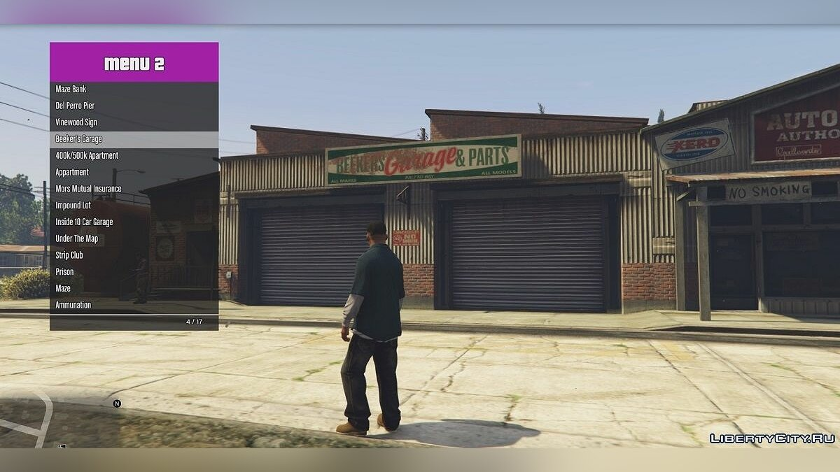 Teleport menu for GTA 5 / Teleport Menu v1 for GTA 5 - screenshot #3