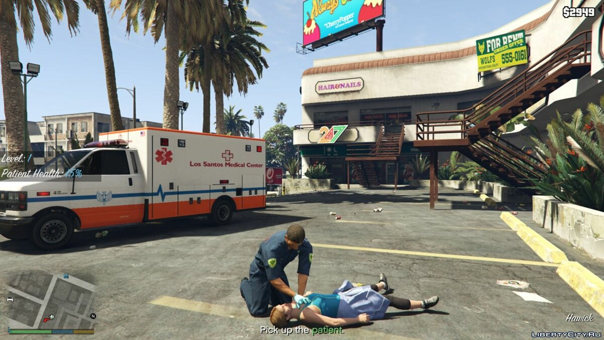 Script mod Missions for the Medic for GTA 5