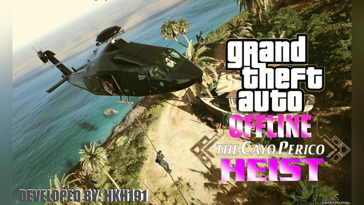 Script mod Robbery of Cayo Perico for single player v1.1 for GTA 5