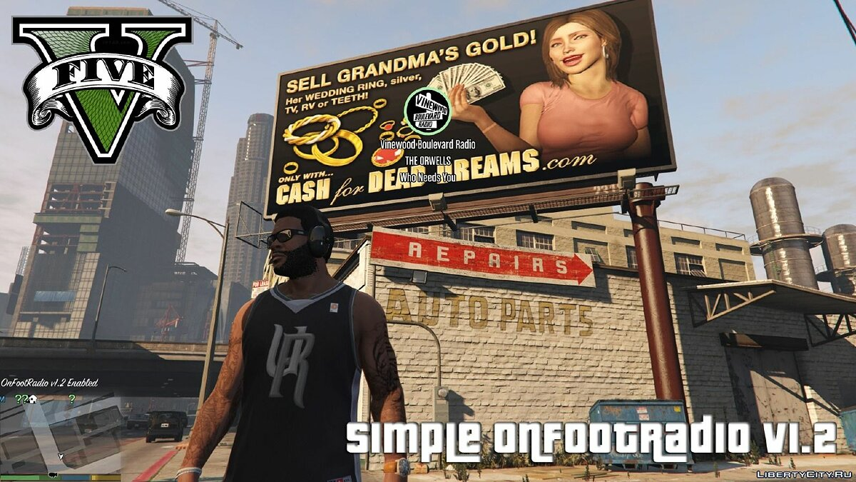 Listening to the radio in headphones / Simple OnFootRadio 1.3 for GTA 5