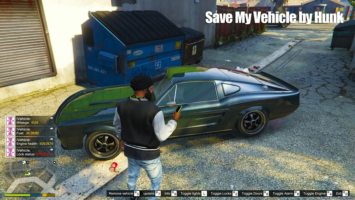 Script mod Ability to save your car for GTA 5