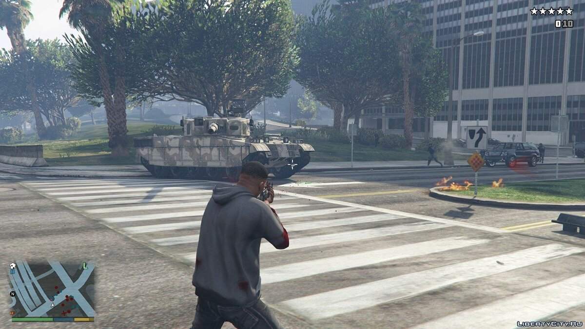 The Army Spawns at Five Stars v1.1 for GTA 5 - screenshot #4