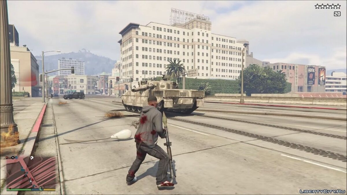 The Army Spawns at Five Stars v1.1 for GTA 5