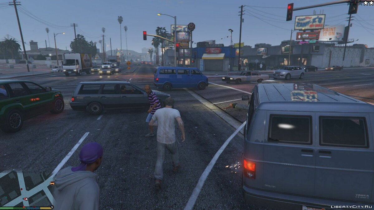 More pedestrians and traffic 1 for GTA 5 - screenshot #6