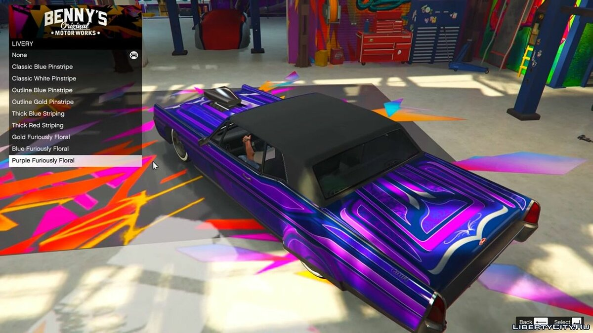 Salon Benny in a single game / Benny's Motorworks SP 1.5.2 for GTA 5