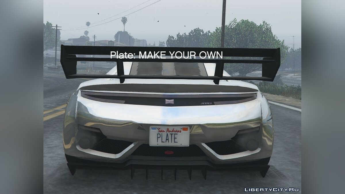 Customize Plate for GTA V for GTA 5 - Картинка #1