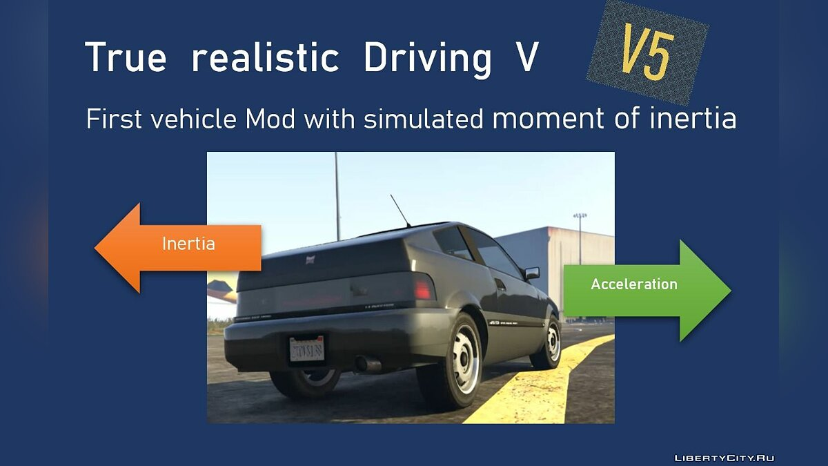 Script mod Realistic driving dynamics for GTA 5