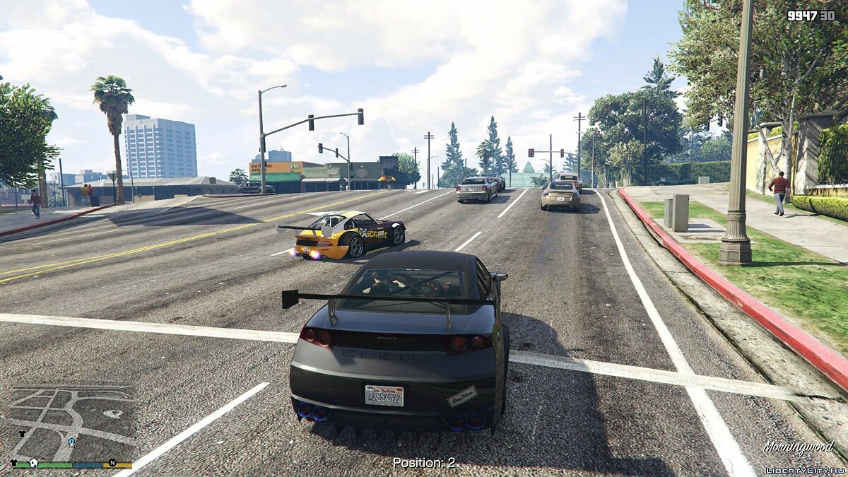 Script mod Street racing for GTA 5