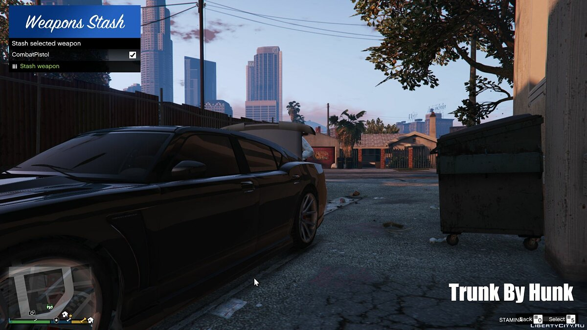 Script mod Keep weapons in the trunk for GTA 5
