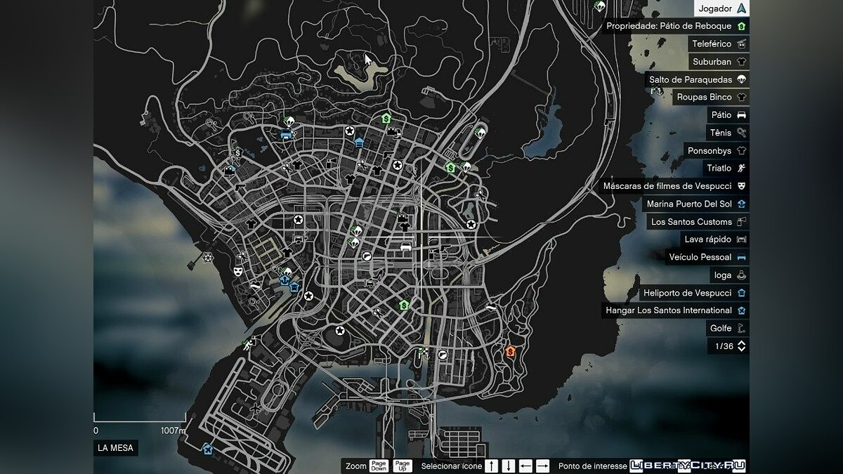 Script mod Icons for lowering the search level for GTA 5